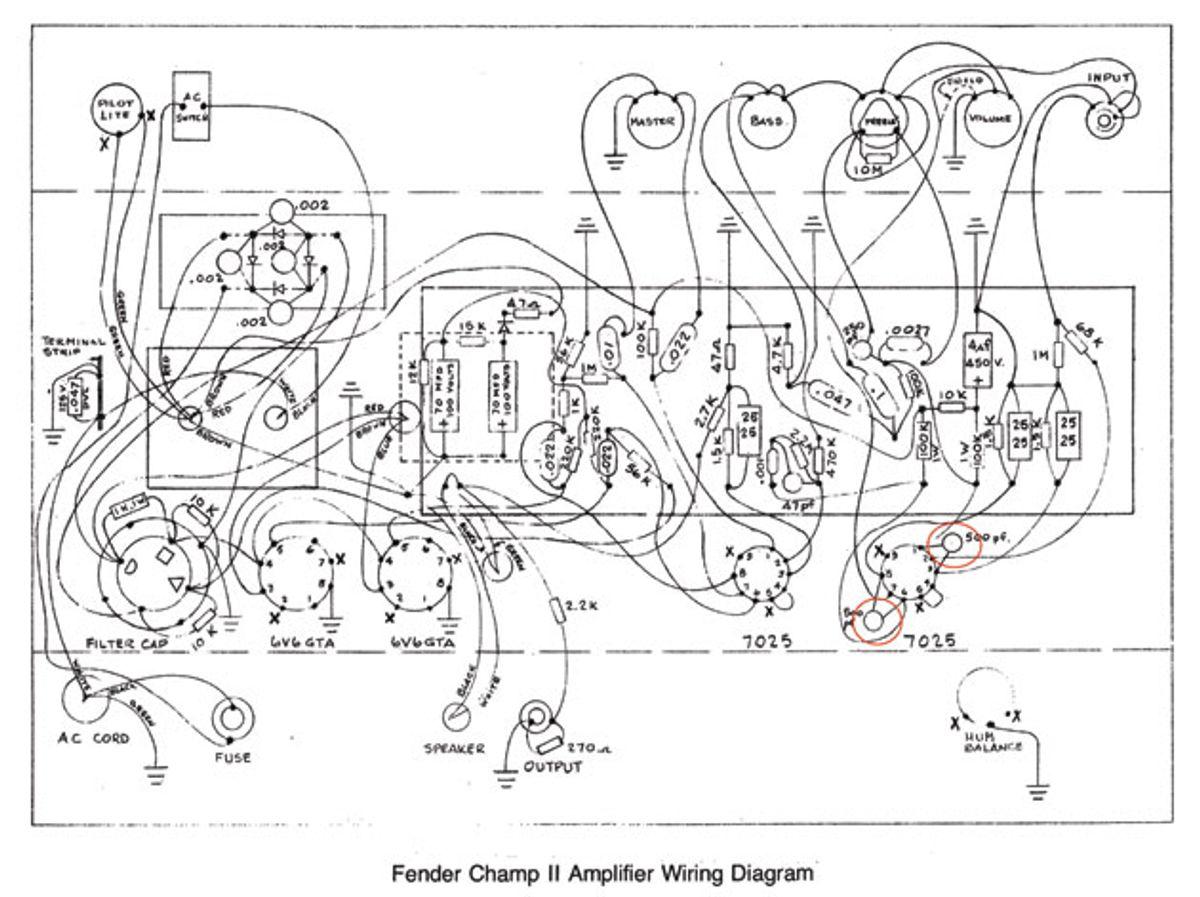 Ask Amp Man: Tweaking a Fender Champ II