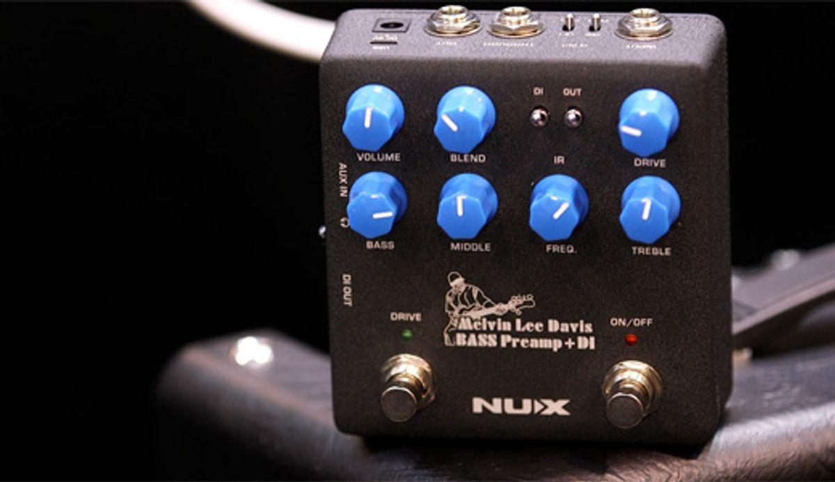 Nu-X Melvin Lee Davis Bass Preamp + DI Demo | NAMM 2020