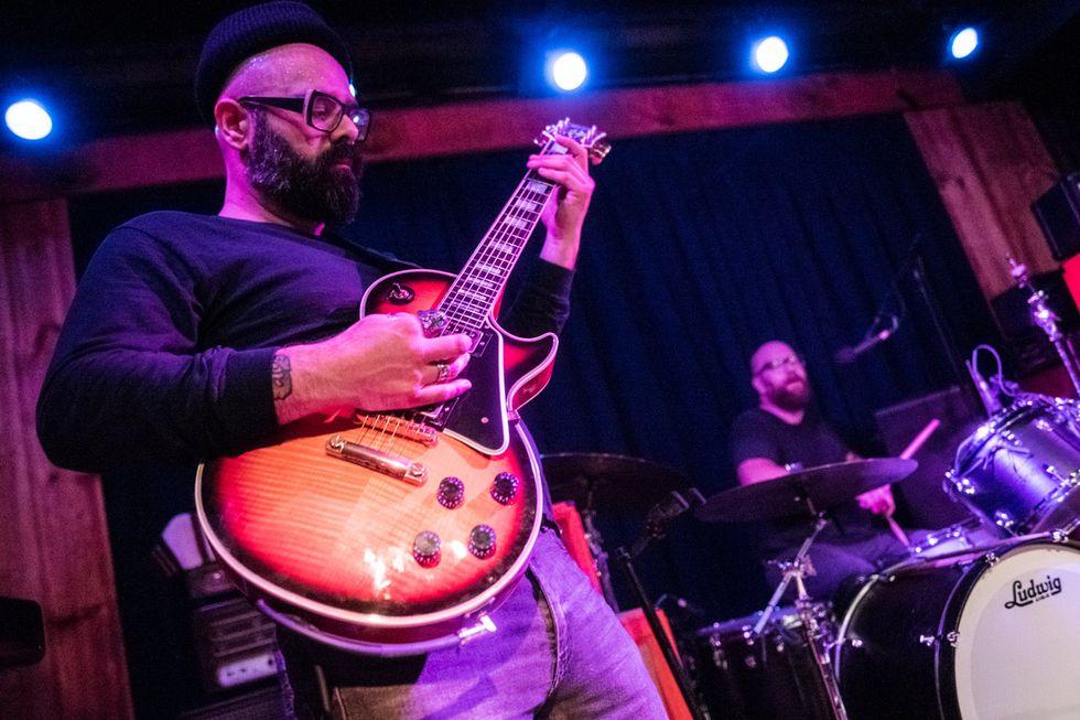 Here Lies Mans Marcos Garcia Afro Metal Riffmaster Premier Guitar