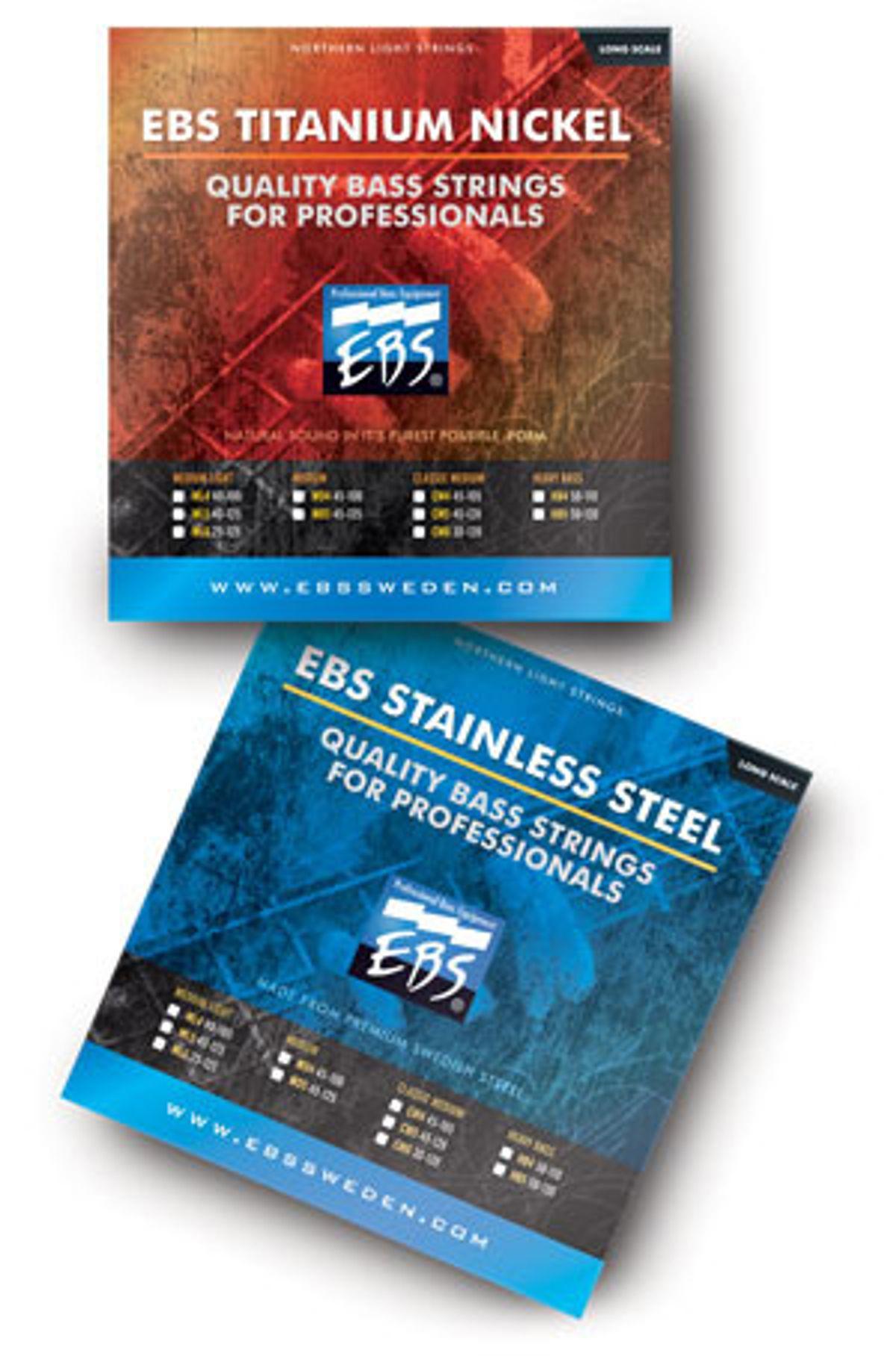 EBS Announces New Bass Strings