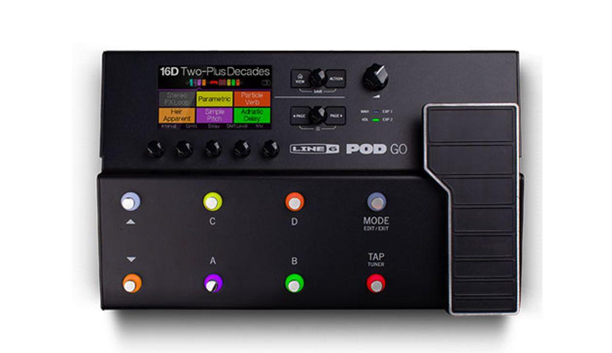 Line 6 Debuts the POD Go Guitar Processor