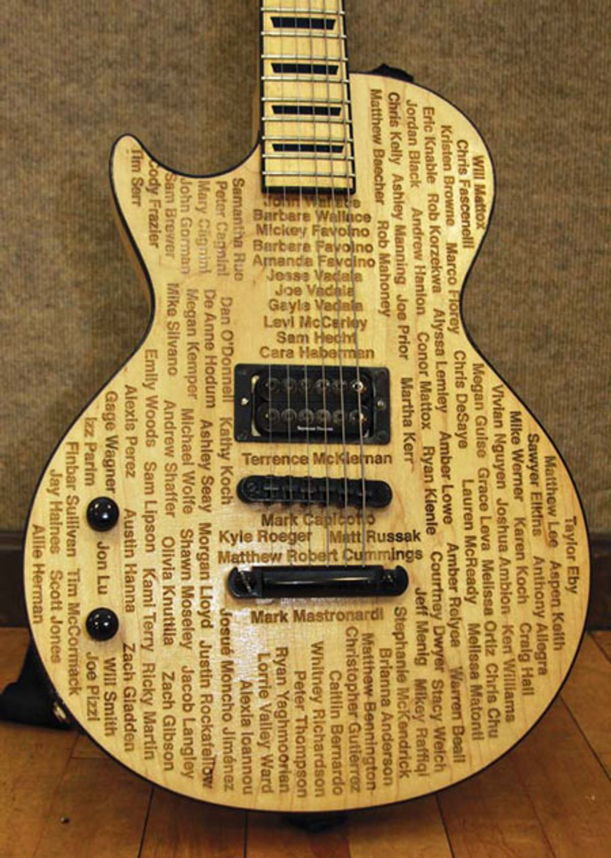 2011 Dustin Wallace Signature Guitar