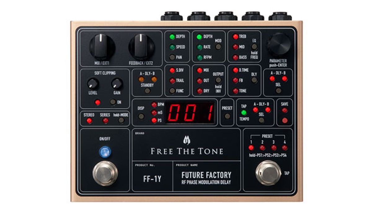 Free the Tone Announces the RF Phase Modulation Delay Future Factory FF-1Y
