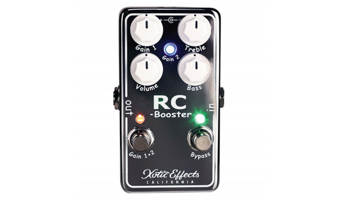 Xotic Effects Unveils the RC Booster V2