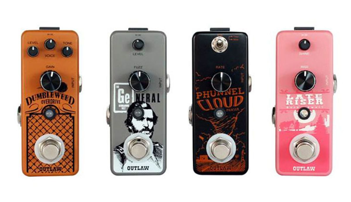 Outlaw Effects Launches Four New Pedals