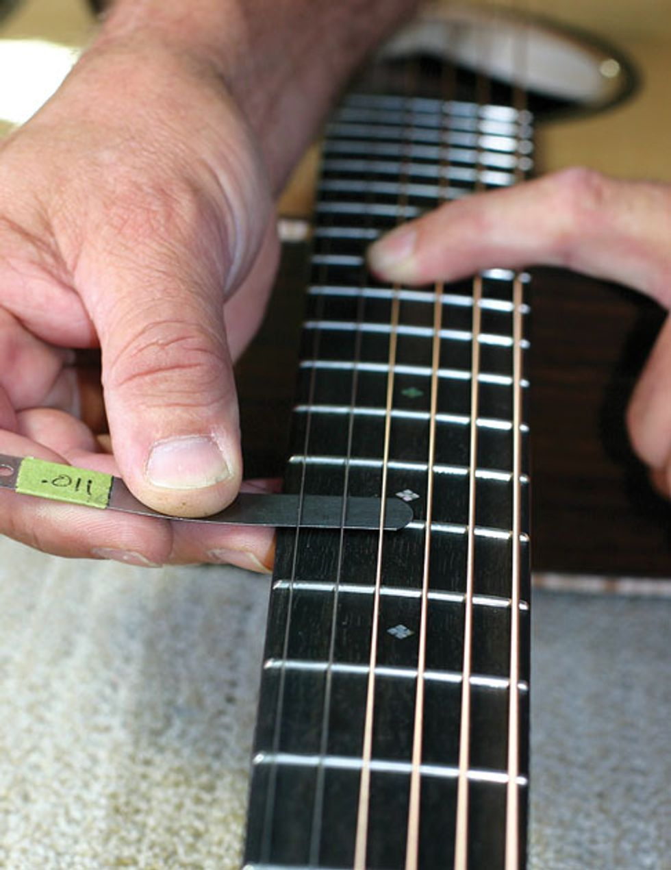 Acoustic Soundboard: Measuring and Adjusting Your Guitar's Action