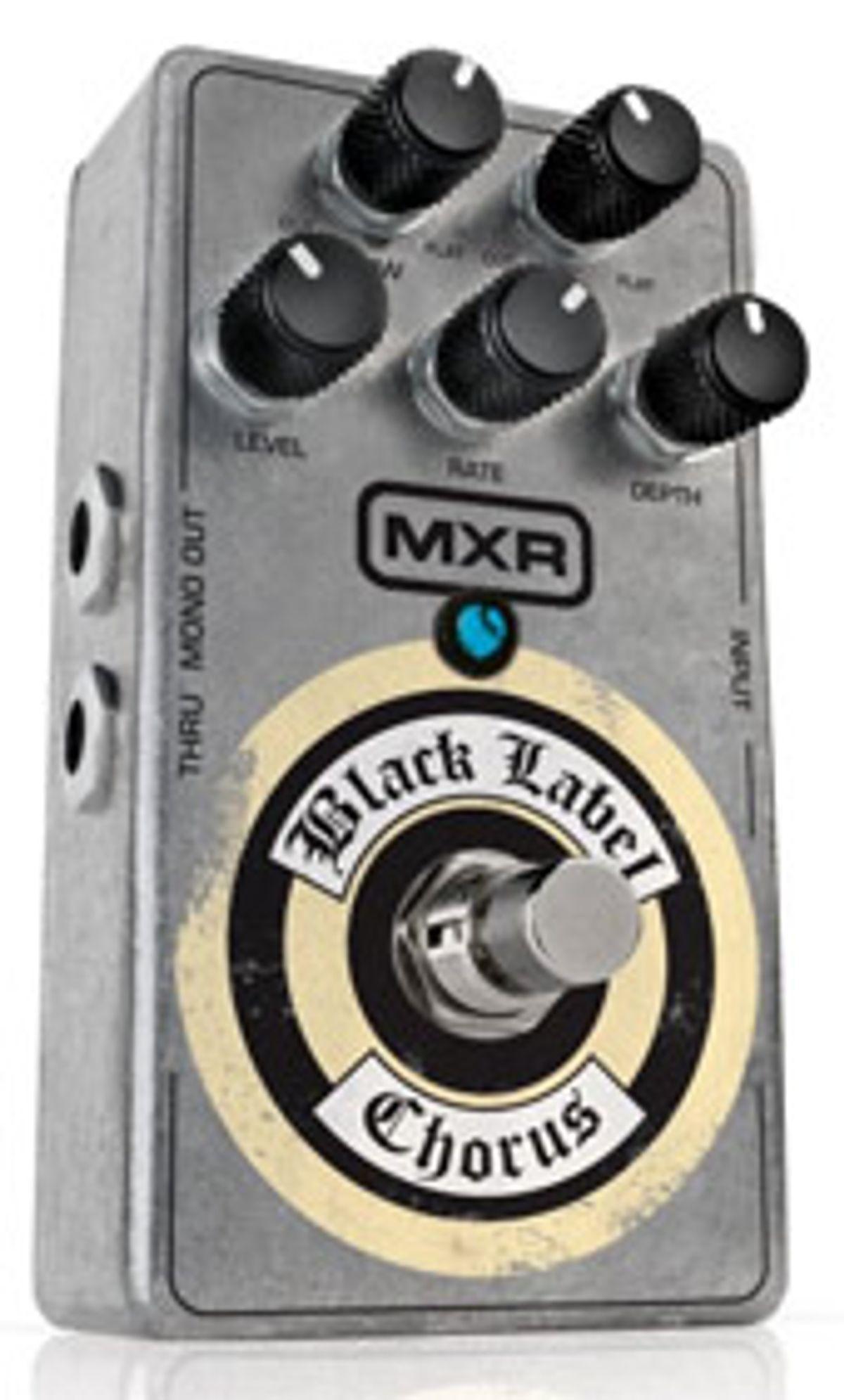 MXR Announces Black Label Chorus Pedal