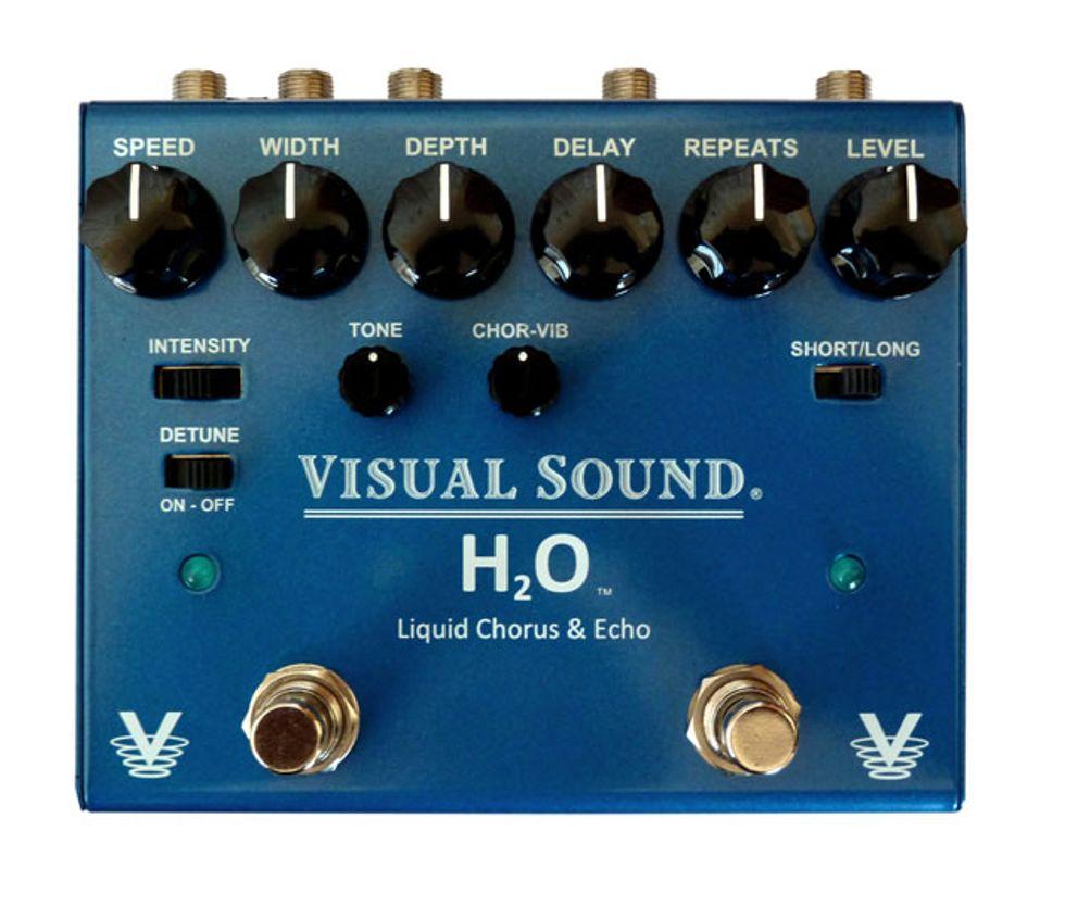 visual sound releases the h20 chorus echo pedal 2014 01 24 premier guitar. Black Bedroom Furniture Sets. Home Design Ideas