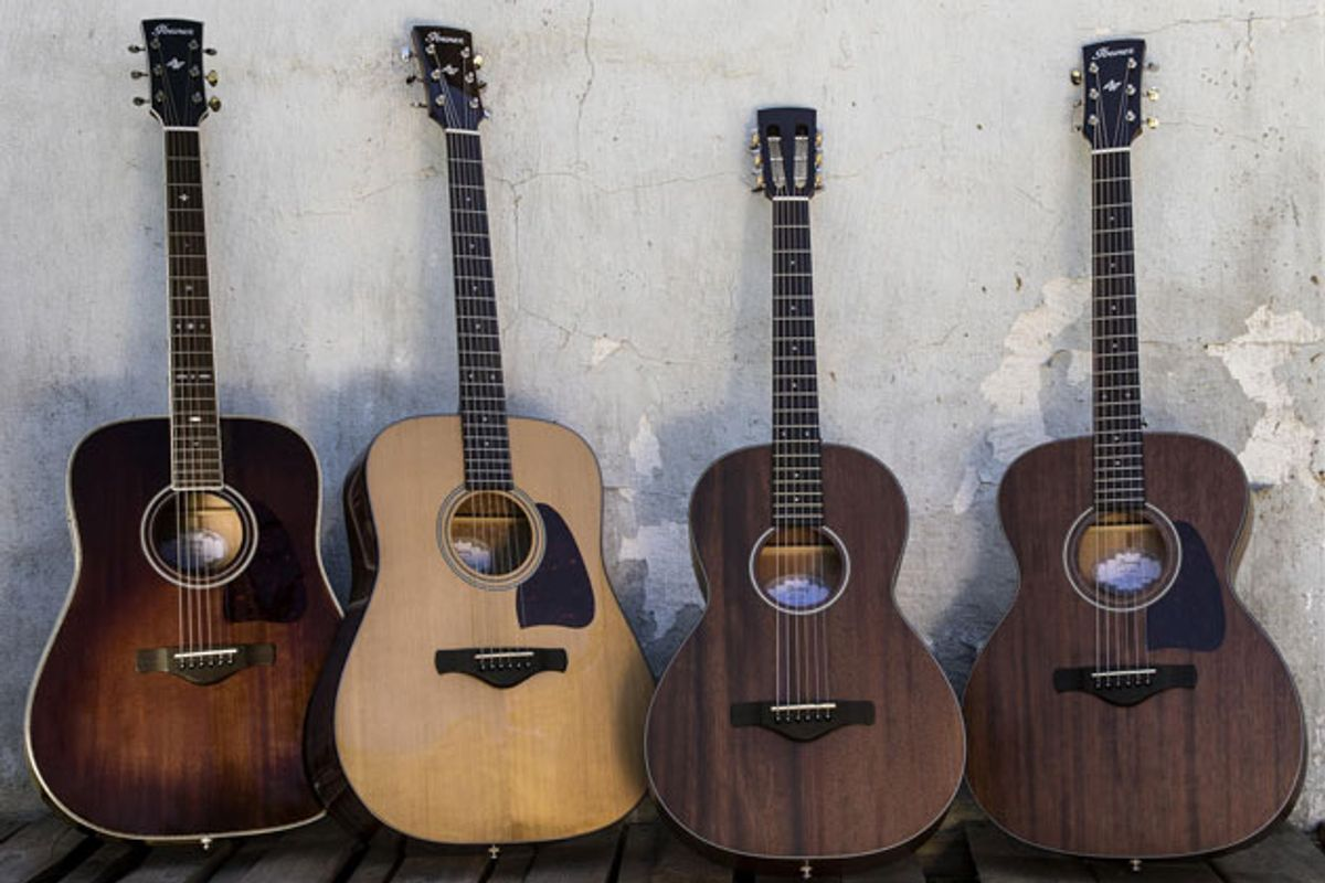 Ibanez Introduces Artwood Vintage Thermo-Aged Acoustics