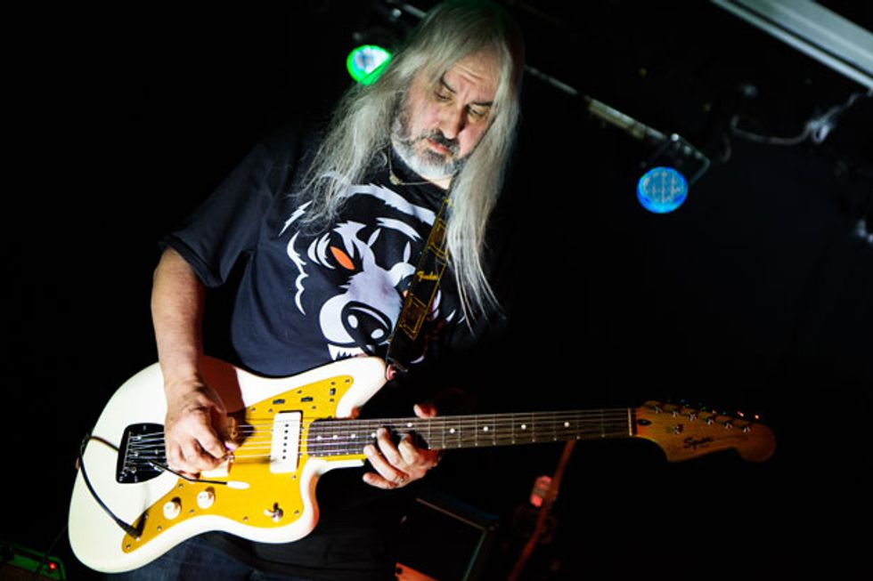 933dff518ffb9 Dinosaur Jr. isn t the only home for Mascis  raging guitar solos. He s  shown here performing with his side project Heavy Blanket at San Diego s  the ...