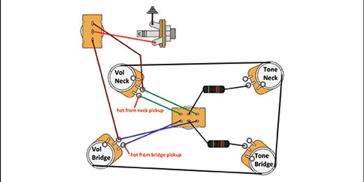 Switchable Modern Retro Les Paul Wiring, Gibson Les Paul Wiring Schematic