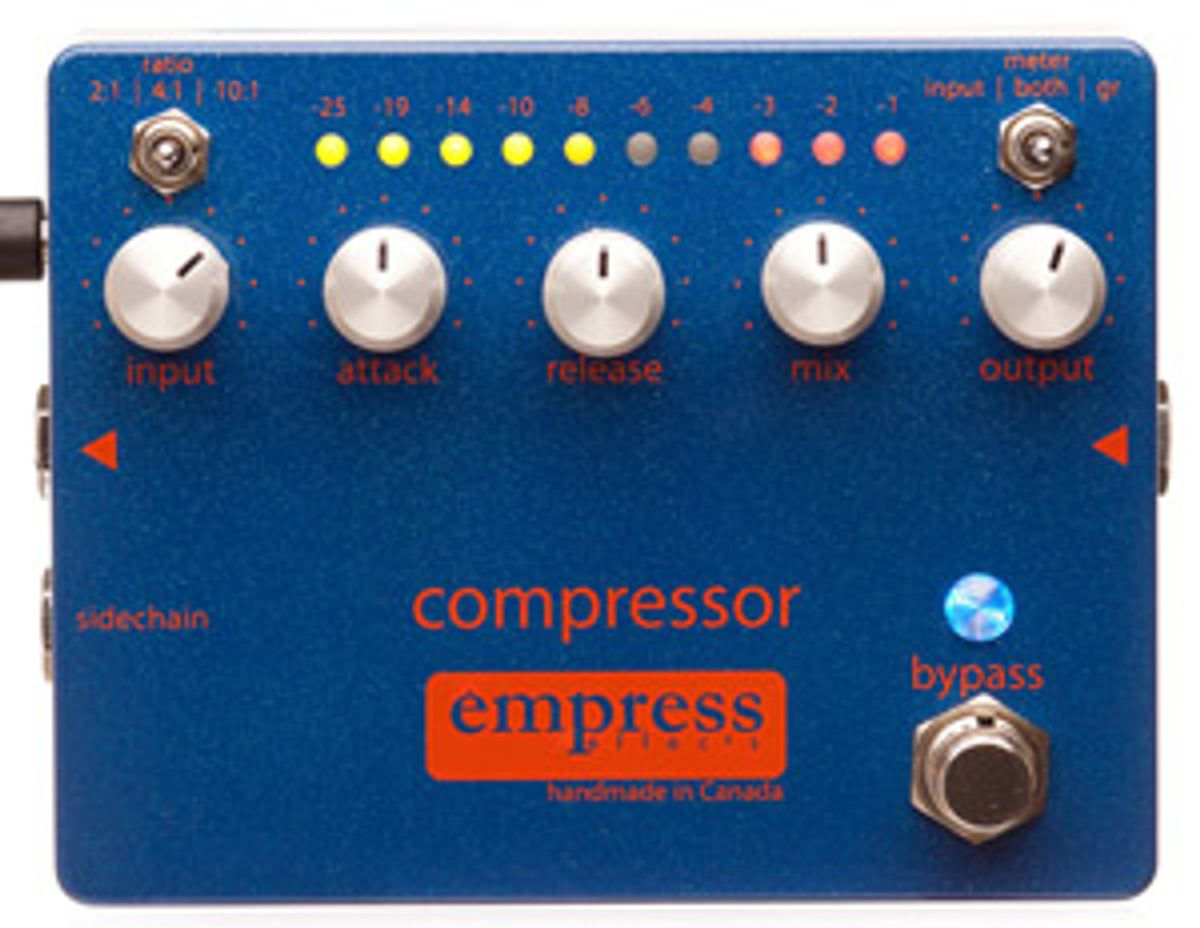 Empress Effects Launches Compressor Pedal