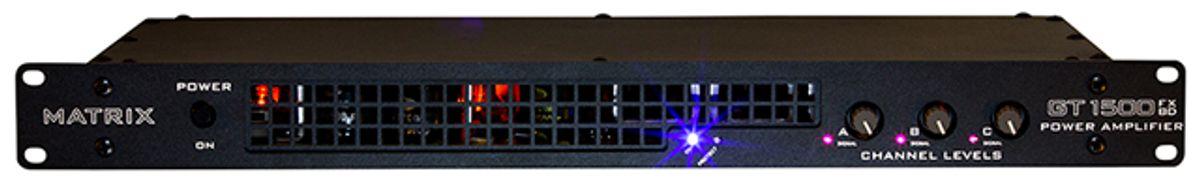 Matrix Amplification Unveils GT1500FXBD 3-channel Rackmount Power Amp