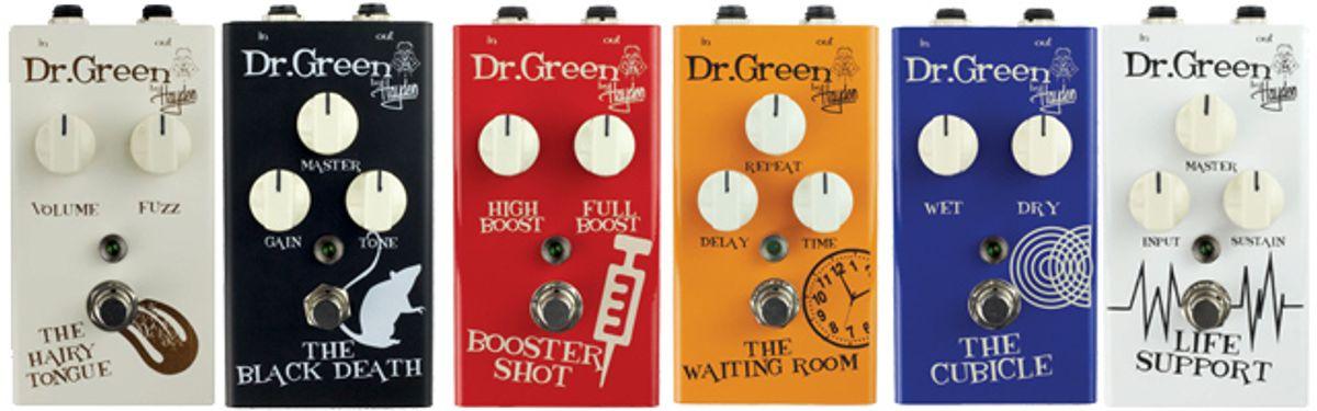 Hayden introduces New Dr. Green Guitar FX Pedals