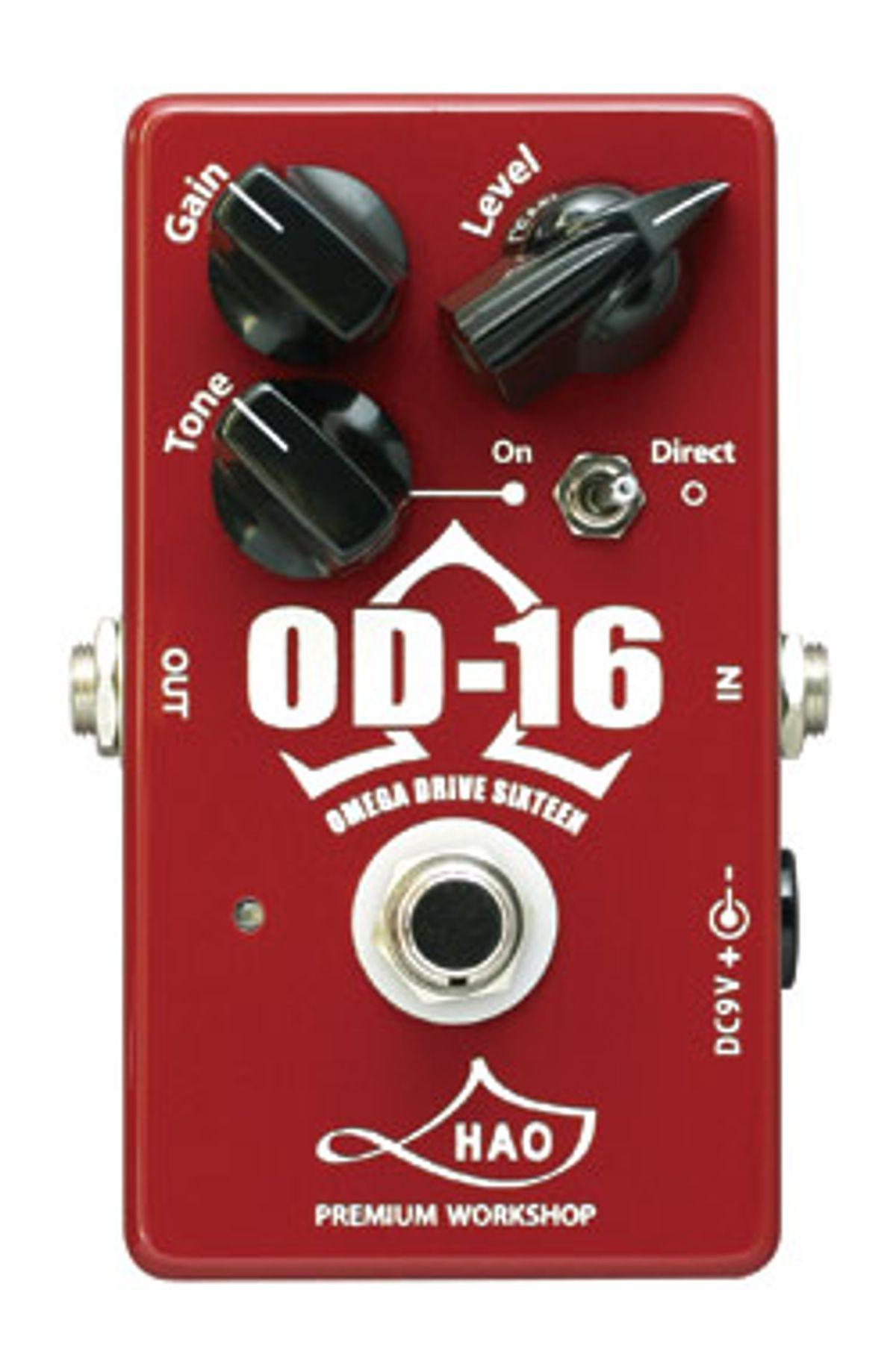 Godlyke Releases HAO Premium Workshop Omega Drive Sixteen Overdrive Pedal