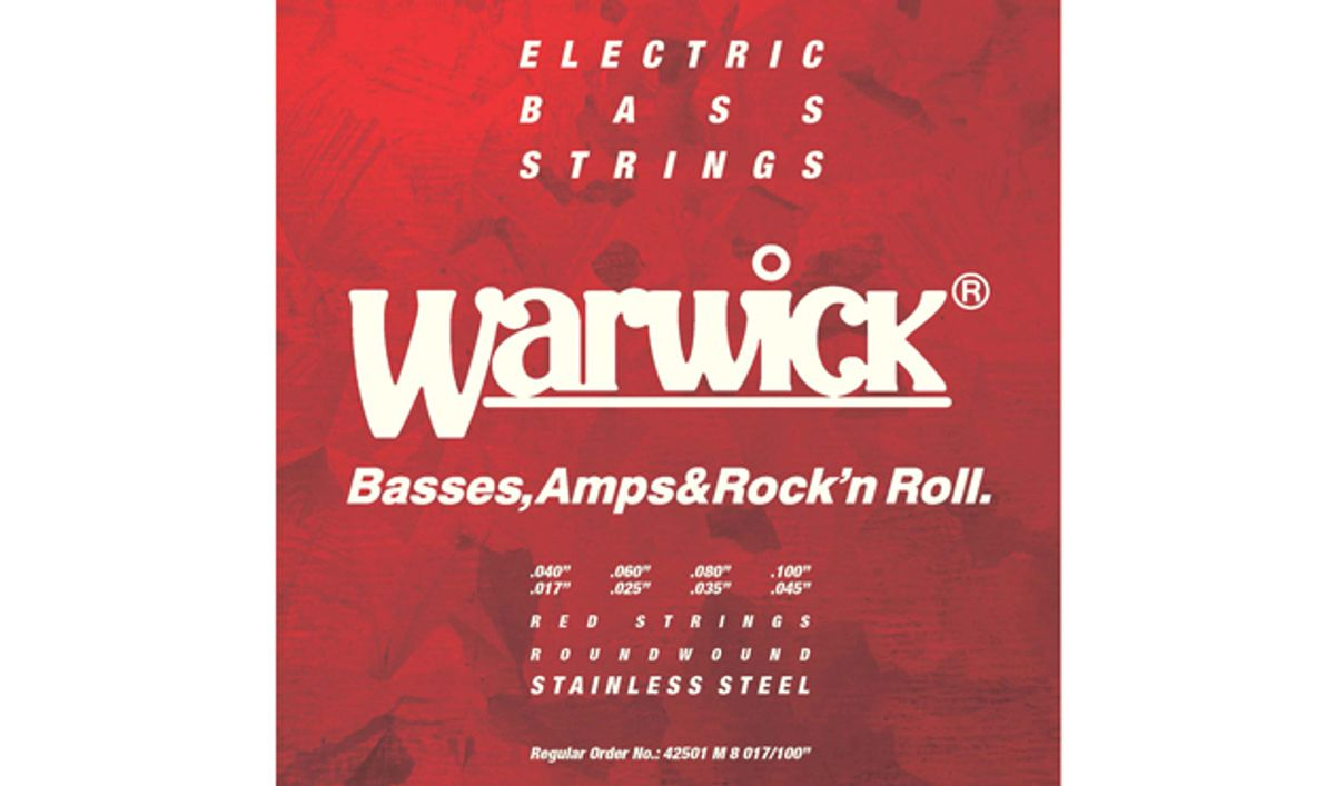Warwick Releases Red Strings for 8-String Basses