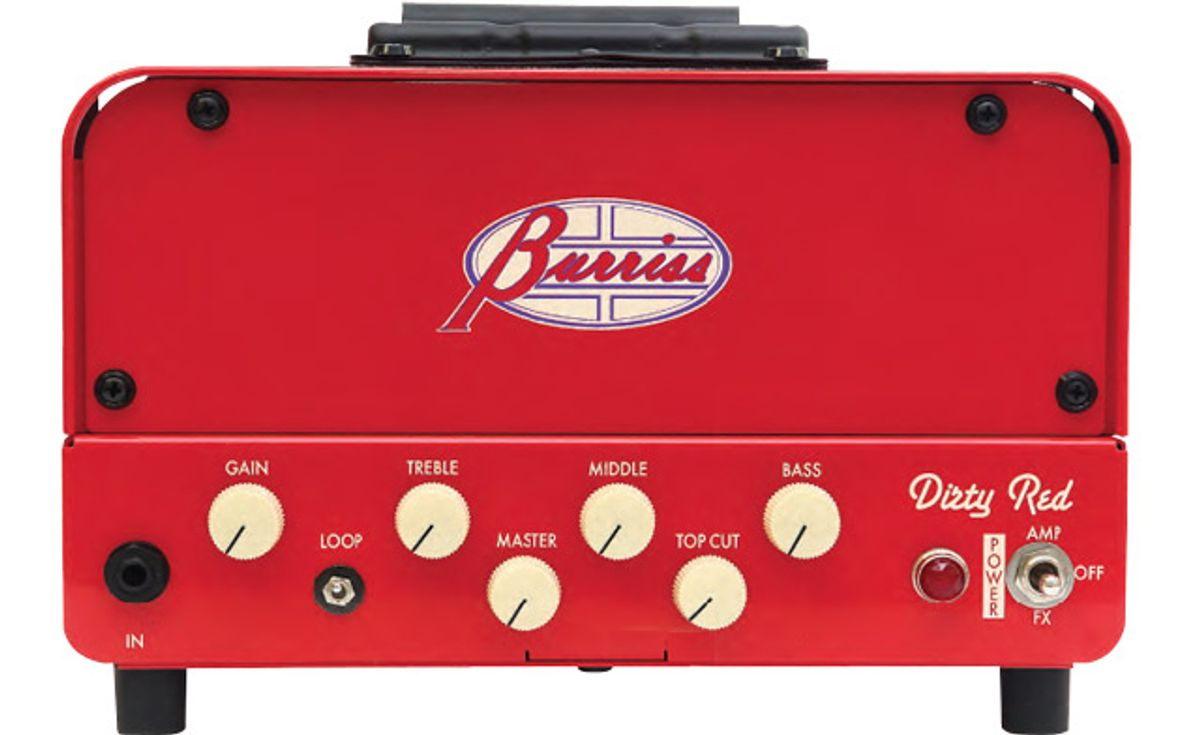 Burriss Amps Introduces the Dirty Red v2 Amplifier