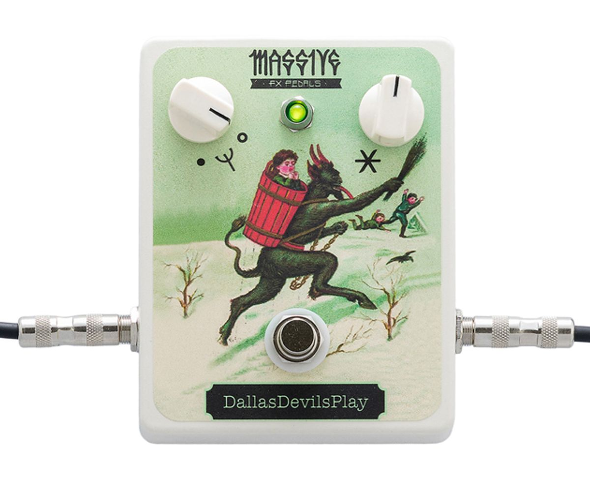 """Massive FX Pedals Unveils the DallasDevilsPlay """"Krampus"""" Limited-Edition Holiday Pedal"""