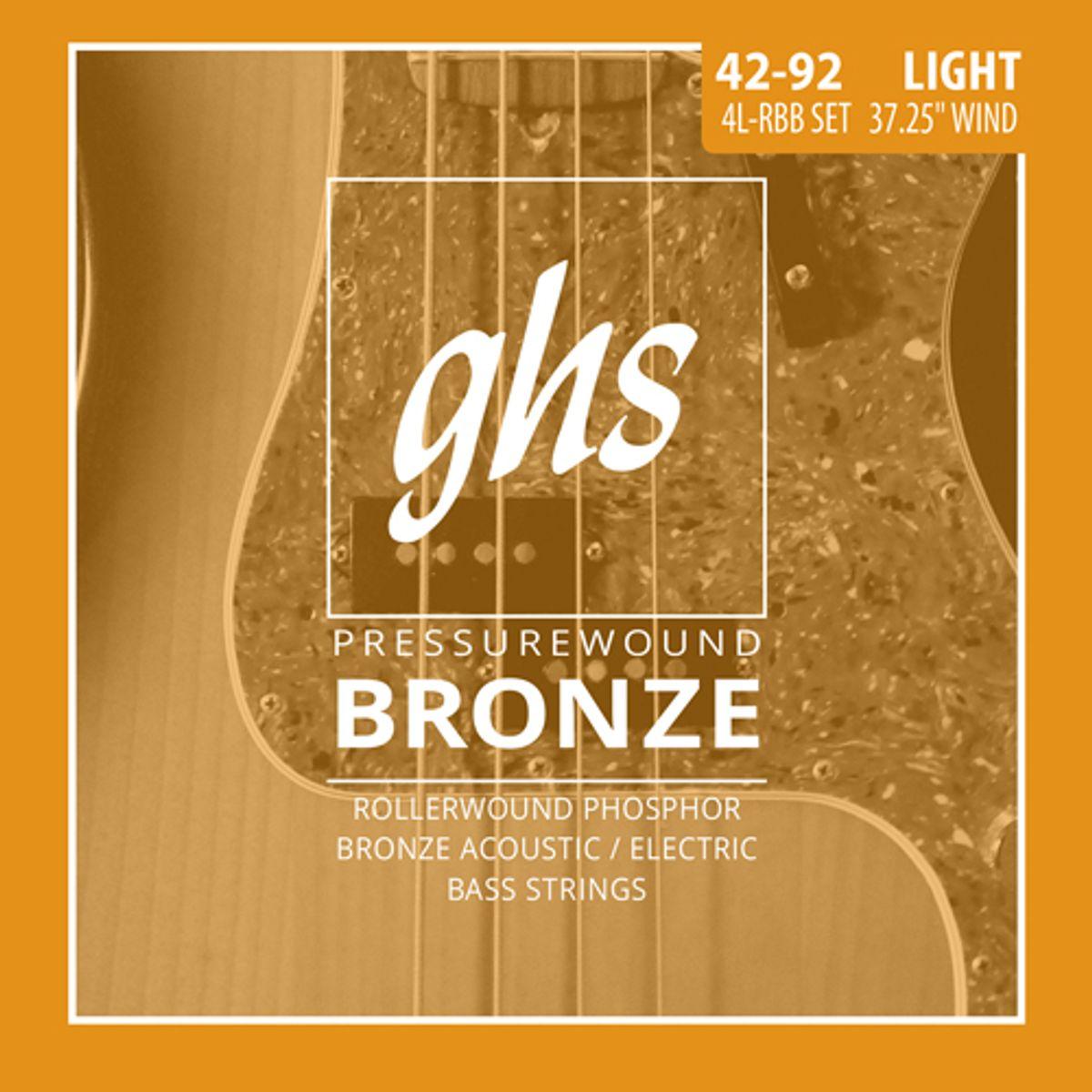 GHS Introduces Pressurewound Bronze Bass Strings
