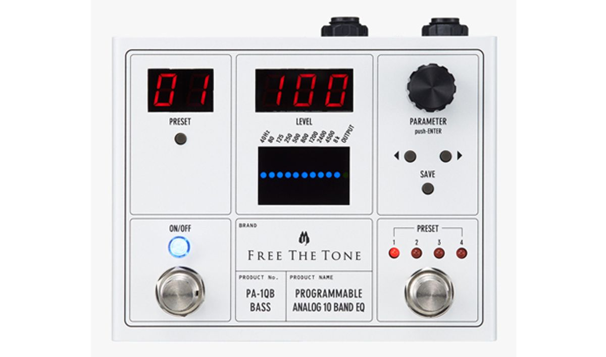 Free the Tone Unveils Programmable Analog 10-Band EQ
