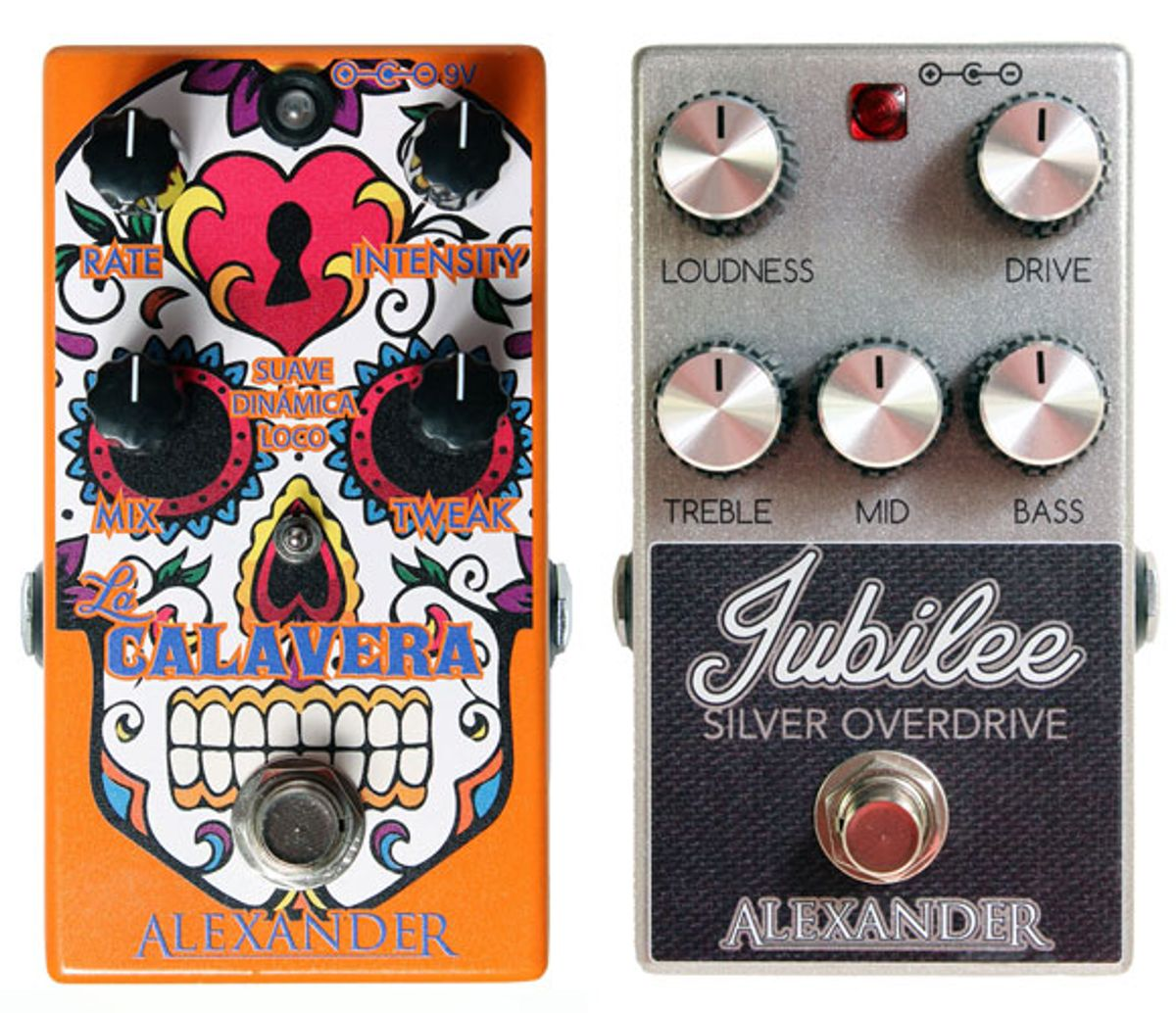 Alexander Pedals Introduces the La Calavera and Jubilee Silver Overdrive