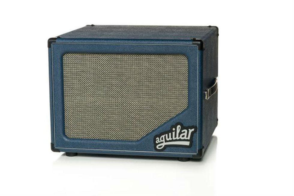 aguilar unveils the blue bossa sl 112 cabinet premier guitar. Black Bedroom Furniture Sets. Home Design Ideas