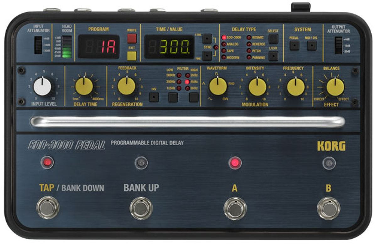 Korg Introduces the SDD-3000 Delay Pedal