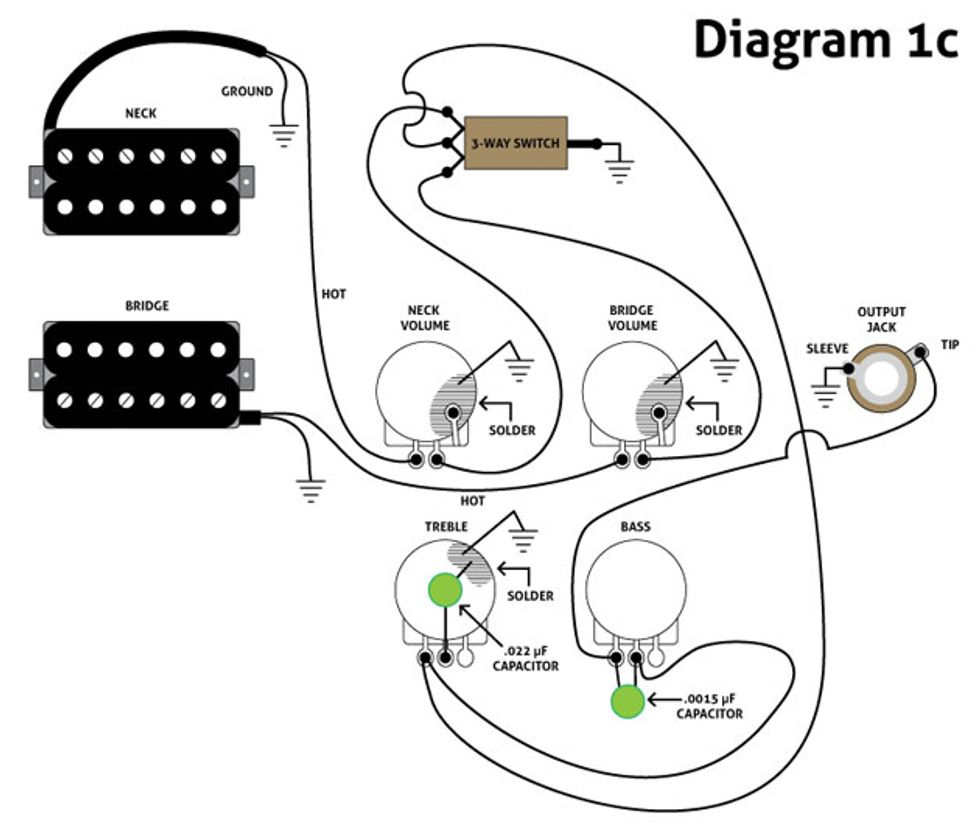 Bass Wiring Diagram:  Premier Guitar,Design