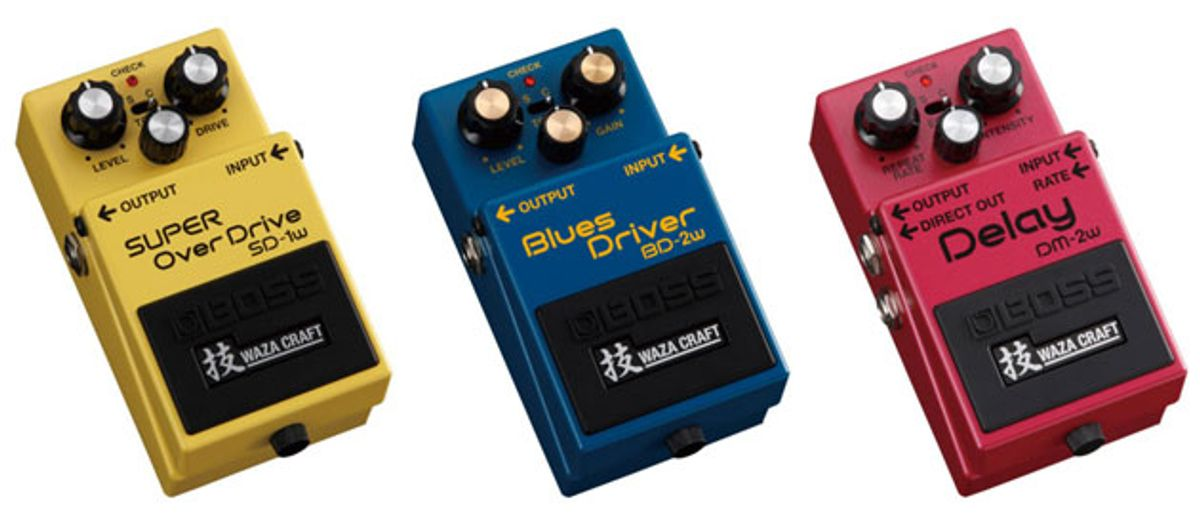 Boss Introduces Waza Craft Compact Pedals