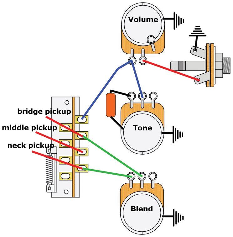 Mod Garage The Blender 7 Sound, Strat Wiring Diagram Blender Pot