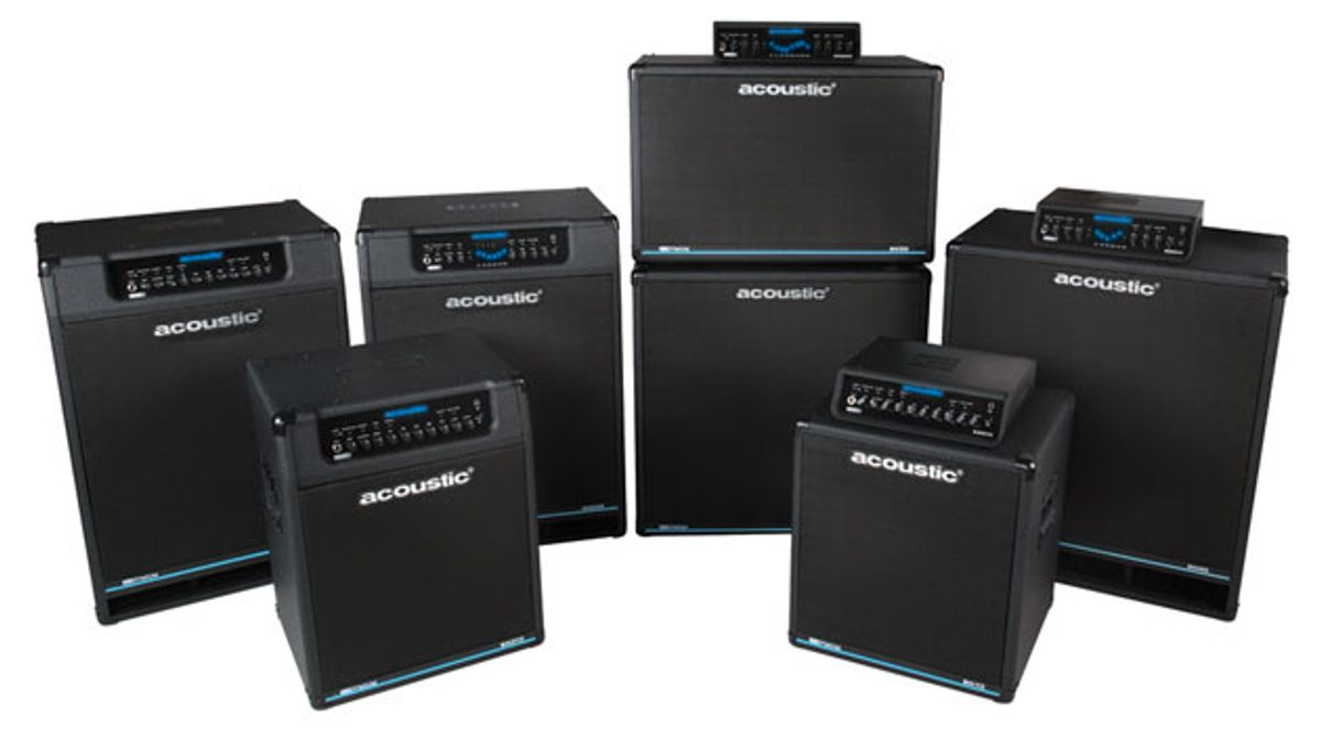 Acoustic Amplification Introduces Class-D/Neo Series Bass Amps and Cabinets