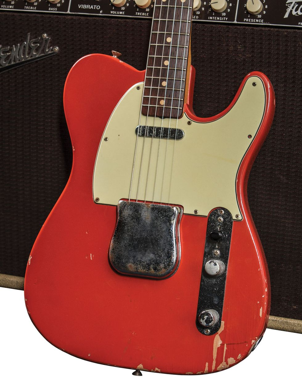 Wear Marks And Scratches Across The Body Reveal A Guitar Thats Been Well Employed Since It Rolled Off Fenders Production Line 56 Years Ago