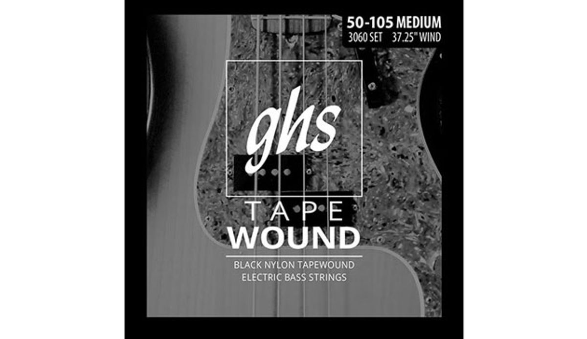 GHS Reintroduces Tapewound Bass Guitar Strings