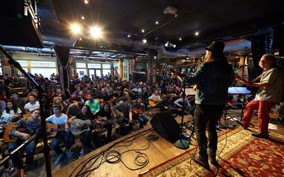 guitar mash announces 8th annual new york city urban campfire premier guitar