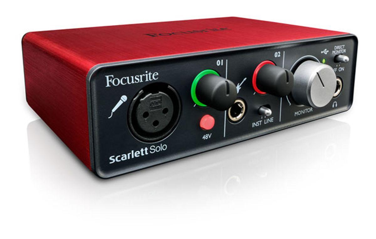 Focusrite Unveils Scarlett Solo Interface