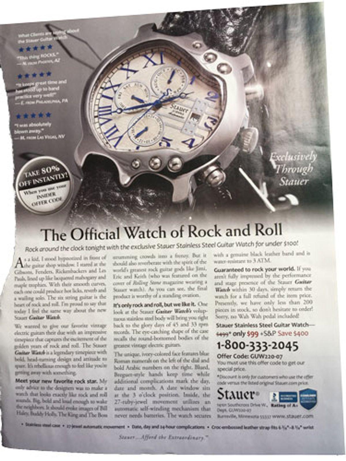 Tuning Up: The Woebegone Wanker Watch™
