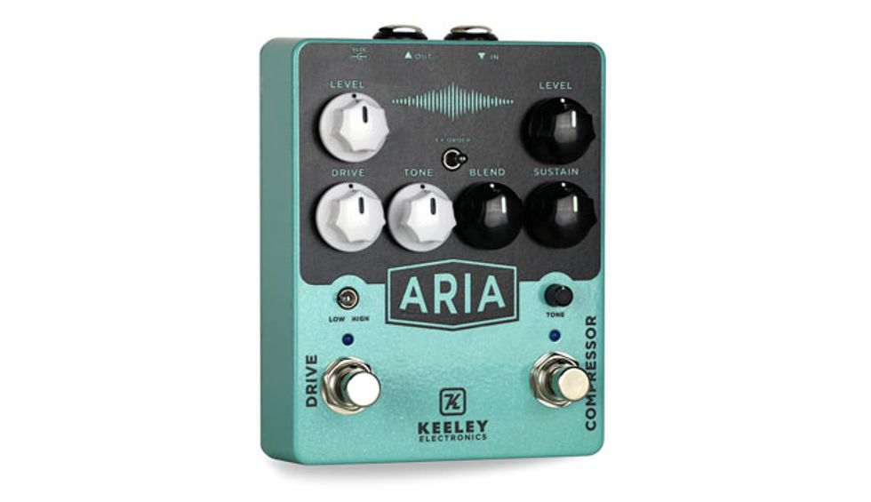 Keeley Electronics Unveils the Aria Compressor & Overdrive