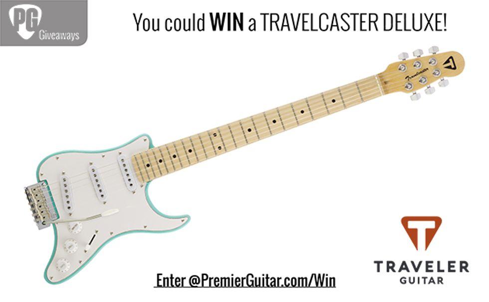 PG Giveaways: Traveler Guitar Travelcaster Deluxe Surf Green