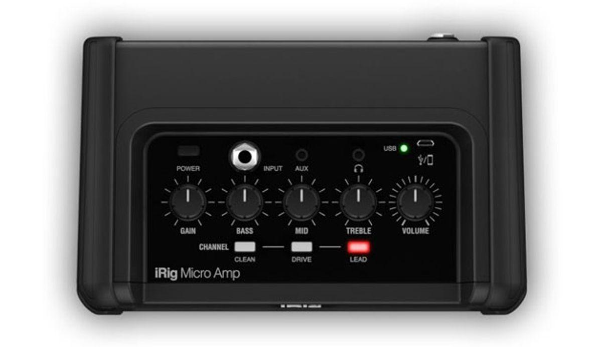 IK Multimedia Introduces the iRig Micro Amp