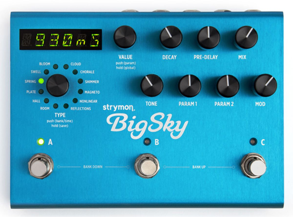 Strymon Introduces the BigSky Reverberator