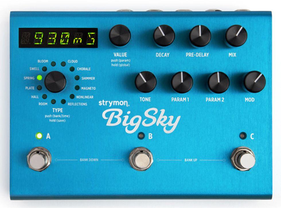 strymon introduces the bigsky reverberator 2013 10 16 premier guitar. Black Bedroom Furniture Sets. Home Design Ideas