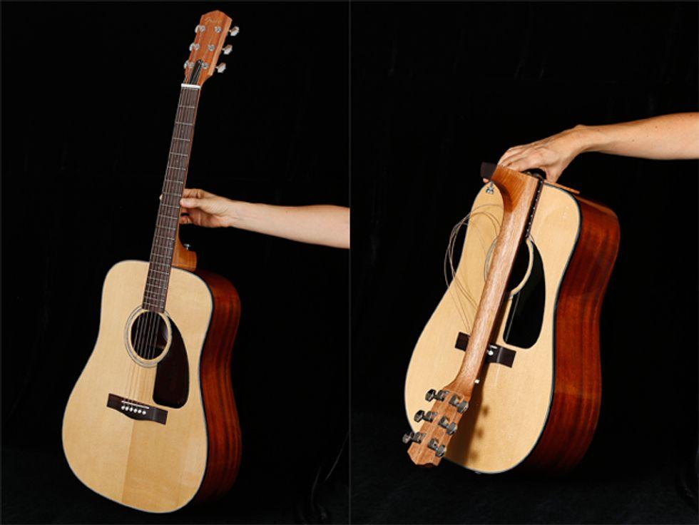 fender releases acoustic guitars fit for travelers premier guitar. Black Bedroom Furniture Sets. Home Design Ideas