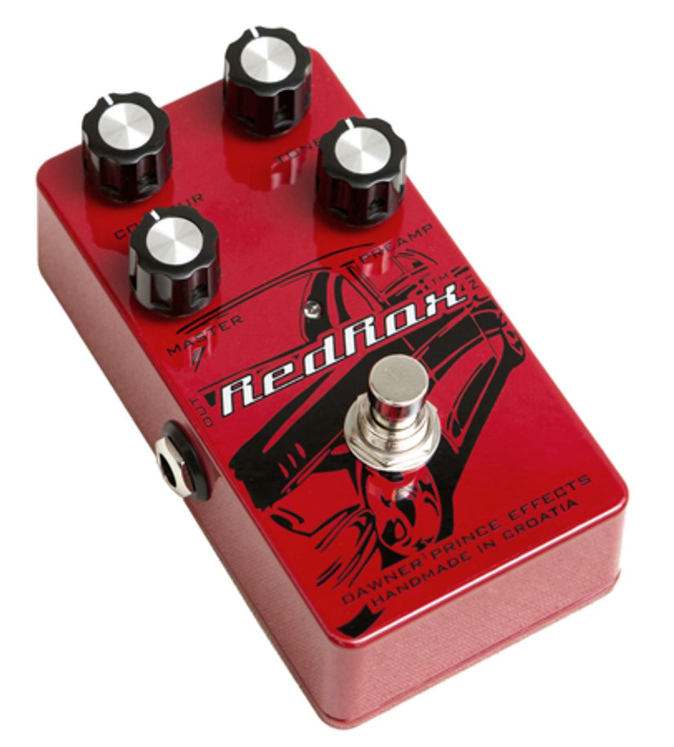 dawner prince effects announces red rox distortion pedal 2013 10 24 premier guitar. Black Bedroom Furniture Sets. Home Design Ideas