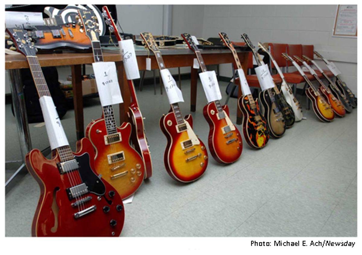 Fake Gibsons Seized, Seller Arrested