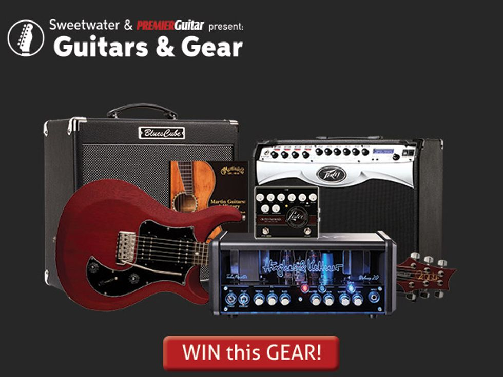 Sweetwater's Guitars & Gear Spring 2016 Giveaway