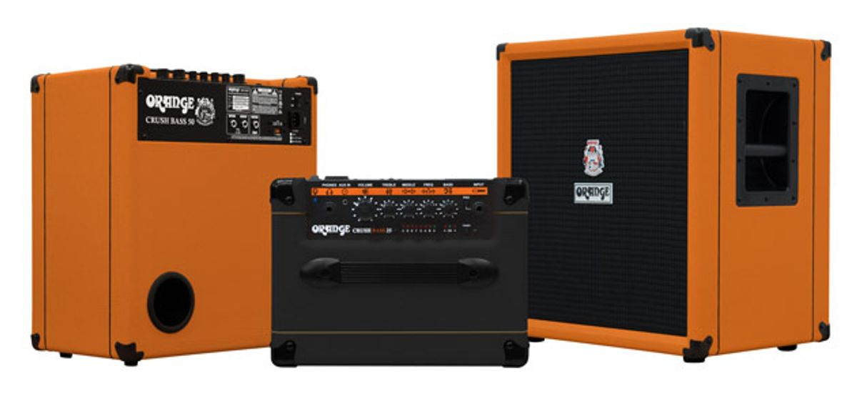 Orange Amplification Introduces the Crush Bass Series
