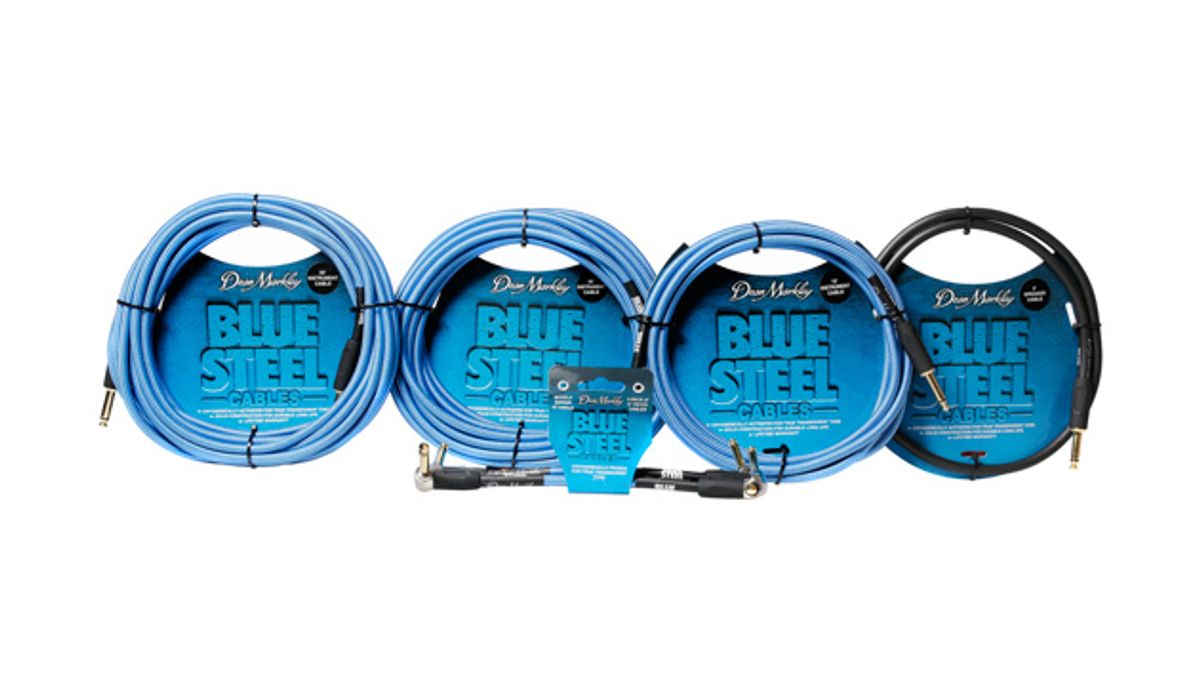 Dean Markley Releases Blue Steel Instrument and Speaker Cables