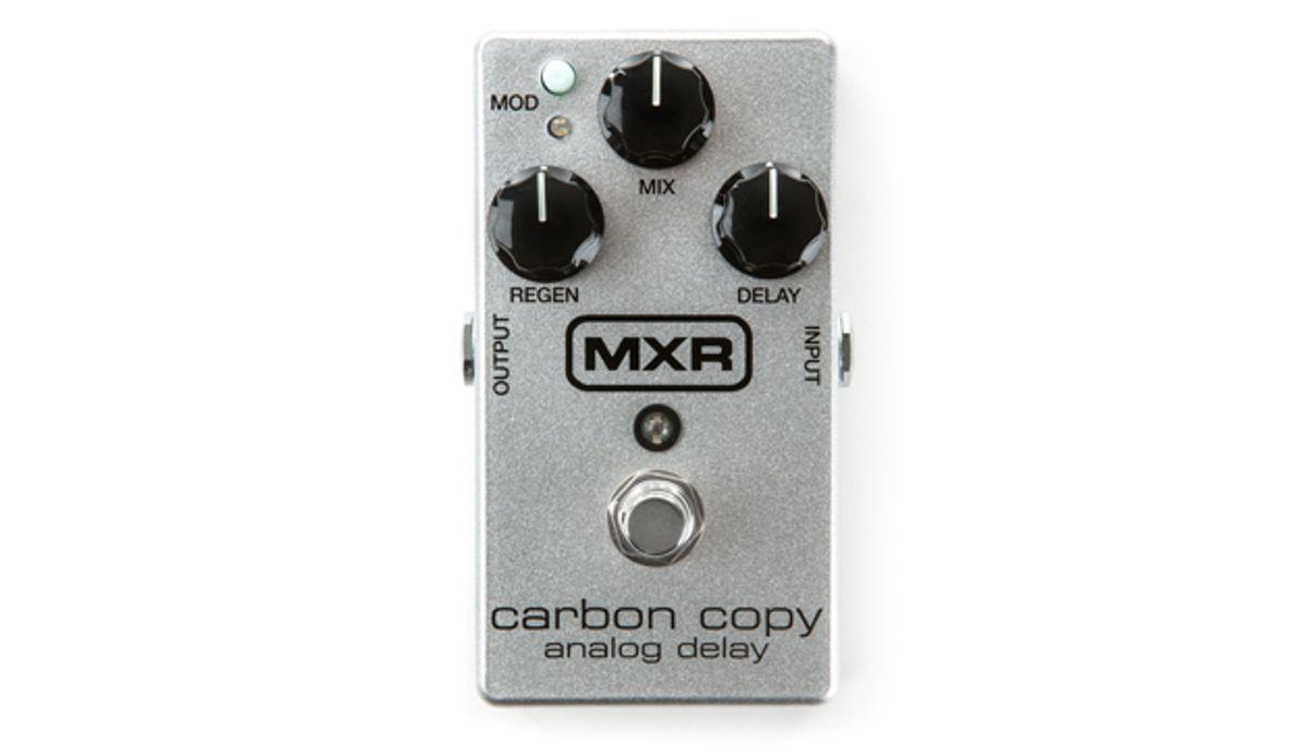 MXR Announces 10th Anniversary Carbon Copy Analog Delay