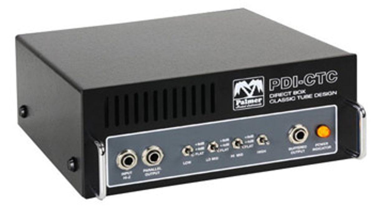Palmer Audio Debuts PDI-CTC Tube DI Box