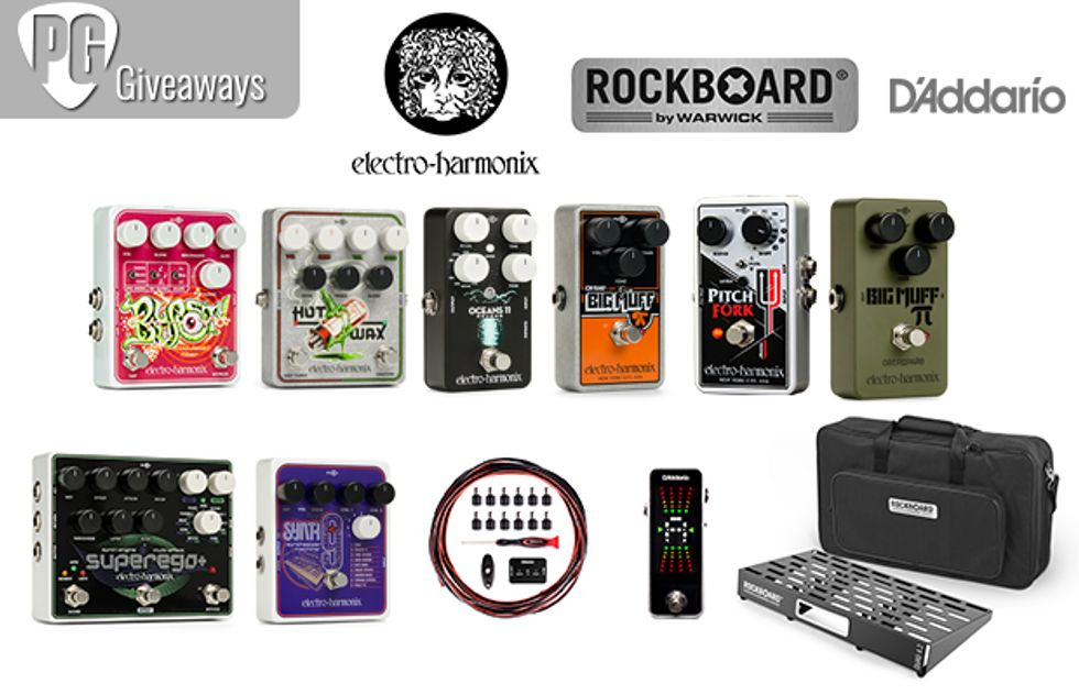 PG Giveaways: Loaded Electro-Harmonix Pedalboard